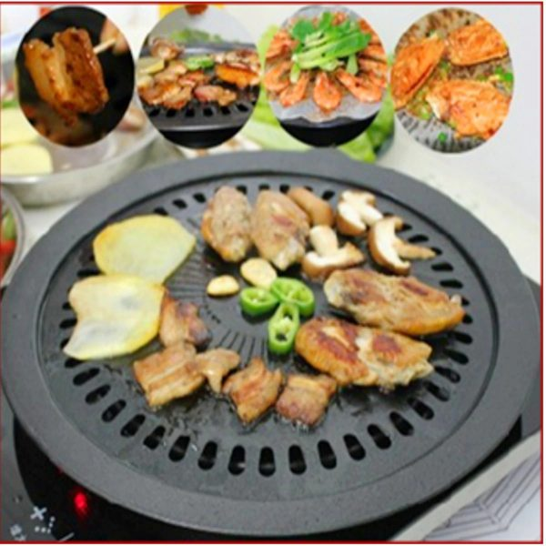 Portable Korean BBQ Grills Round Pan Barbecue Grill for Outdoor Carbon DIY Barbecue BBQ Accessories