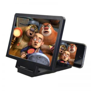 Cell Phone Screen Magnifier 3D HD Movie Video Amplifier With Foldable Holder Stand Video Amplifier For Movie Game