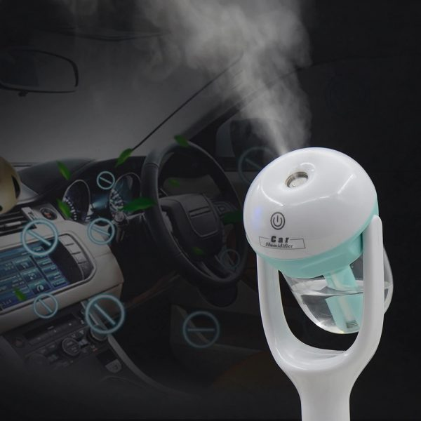 2019 New Mini 12V Car Steam Humidifier Air Purifier Aroma Diffuser Essential oil diffuser Car humidifier many Colors