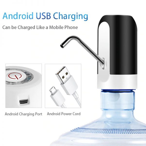Water Bottle Pump USB Charging Automatic Electric Water Dispenser Pump Bottle Water Pump Auto Switch Drinking Dispenser