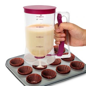 Batter Flour Paste Dispenser Baking Tools For Cupcakes Pancakes Cookie Cake Muffins 900ml Measuring Cup