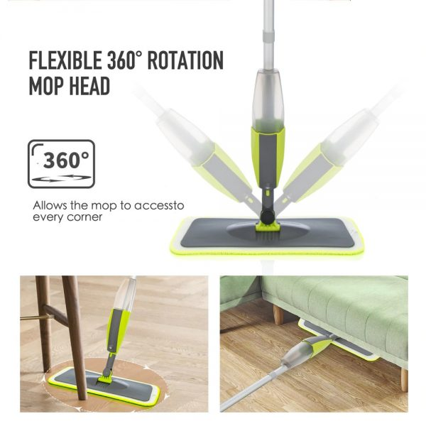 Spray Mop Broom Set Magic Mop Wooden Floor Flat Mops Home Cleaning Tool Household with Reusable Microfiber Pads Lazy Mop