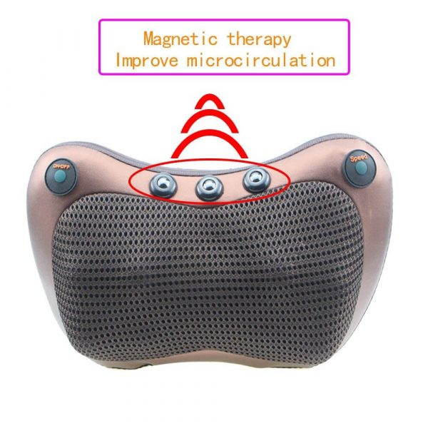 Massage Pillow Electric Neck Massager Multifunctional Shoulder Infrared Heating Magnetic Therapy Massage Relaxation